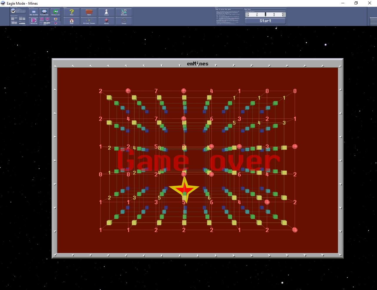 Figura 8: il campo minato in 3D