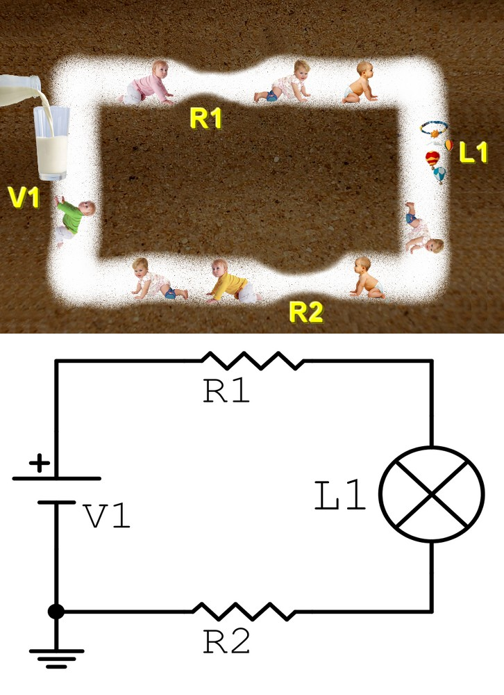 Figura 1: comprendere il collegamento in serie in un circuito elettrico