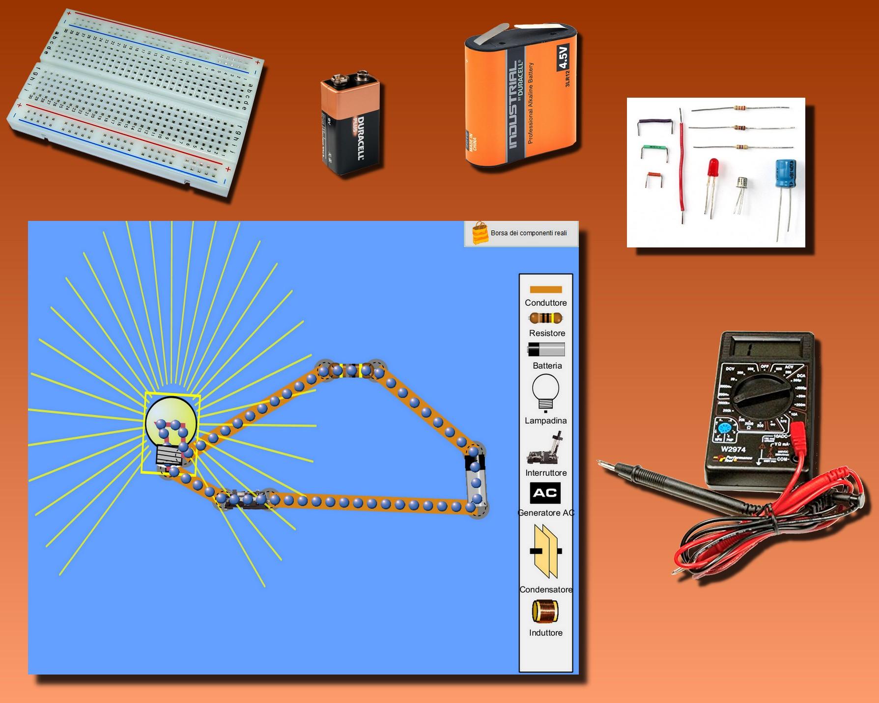 Figura 1: gli occorrenti per il corso di elettronica