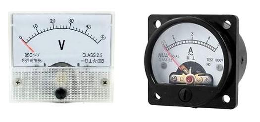 Figura 2: un voltmetro e un amperometro di classe 2.5