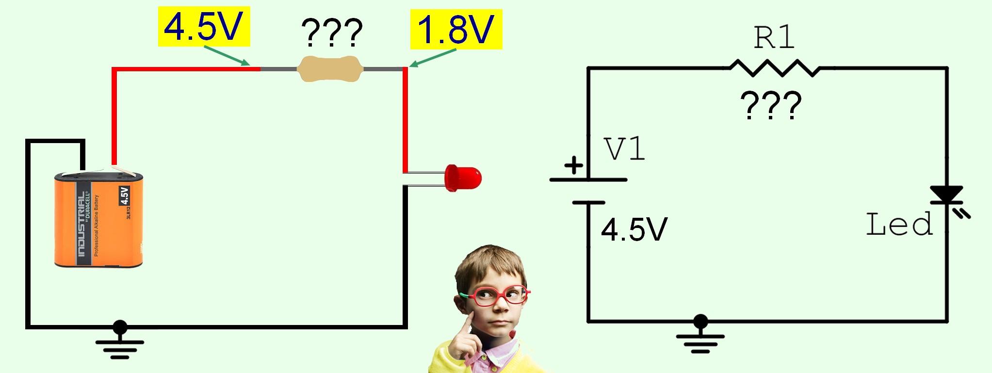 Figura 4: come determinare il valore della resistenza, con la legge di Ohm