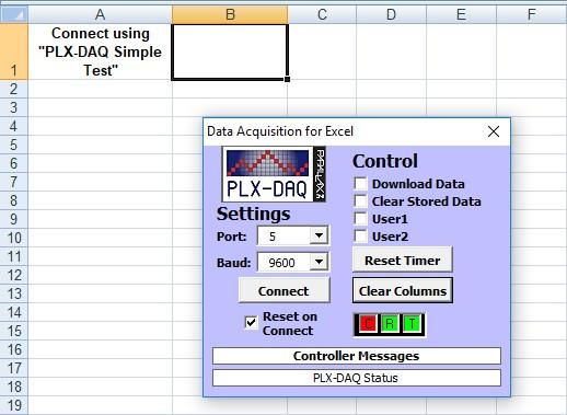Figura 3: la comparsa della finestra dell'acquisizione dati testimonia la corretta esecuzione dell'Add-on