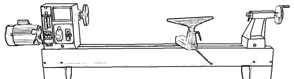 Figura 2: la struttura generale di un tornio per legno