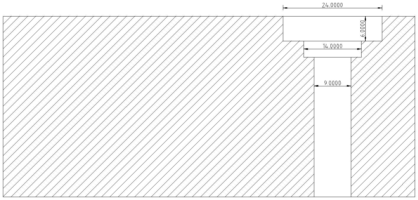 Figura 4: gli svasi per l'alloggiamento del cuscinetto a sfera e il passaggio della barra filettata