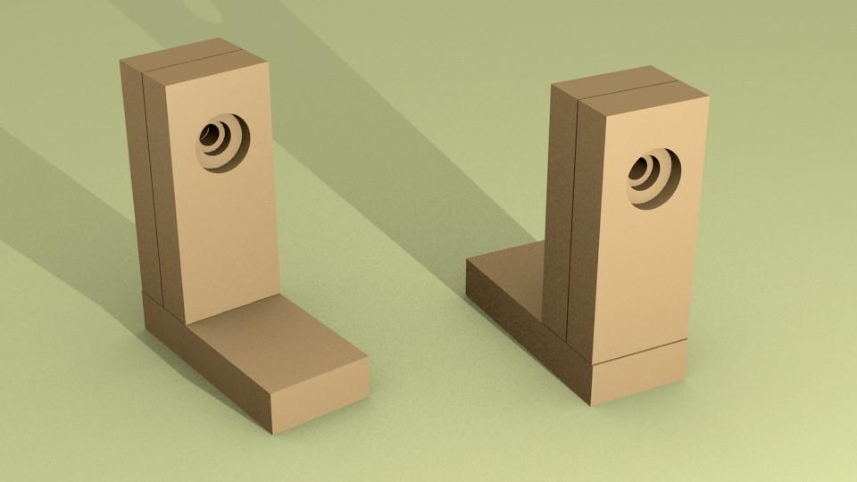 Figura 5: le due torrette incollate e forate