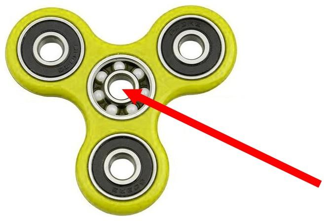 Figura 3: da un economico fidget spinner è possibile ricavare un cuscinetto a sfera