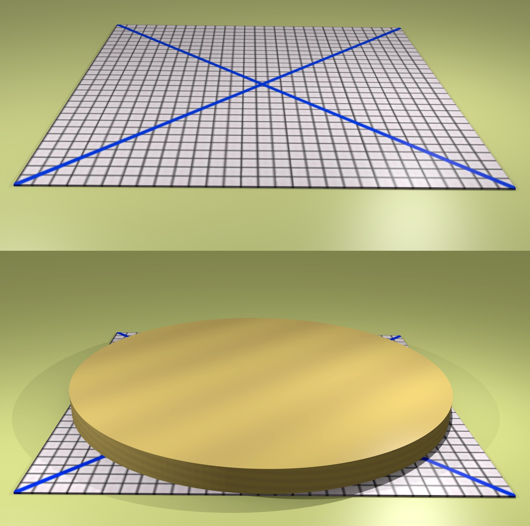 Figura 9: il metodo del cerchio inscritto
