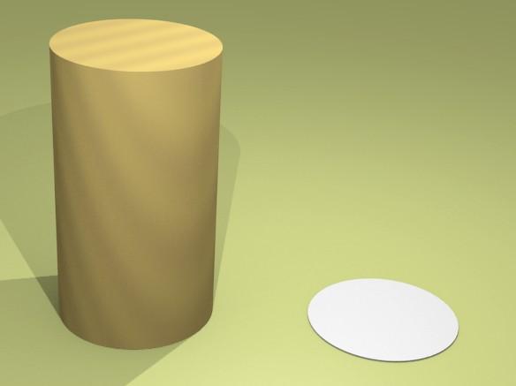 Figura 6: ritagliare un cerchio equivalente alla base del tondino di legno