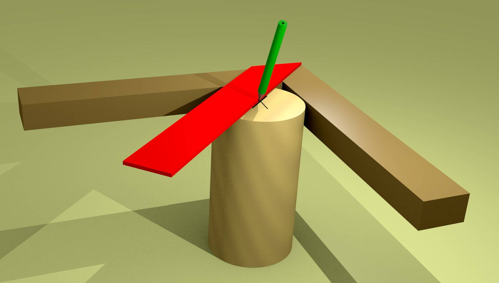 Figura 5: come si utilizza la squadra a 45° per trovare il centro di un cerchio