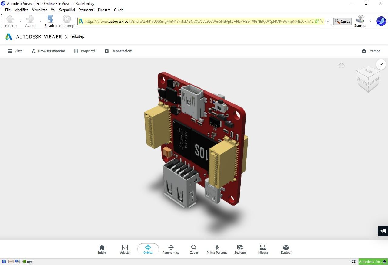 Figura 4: online è possibile visionare il modello 3D del Red Brick