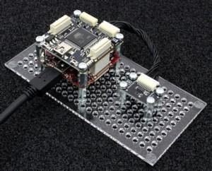 Figura 6: il collegamento di un RED Brick, un Master Brick e un Bricklet per la temperatura