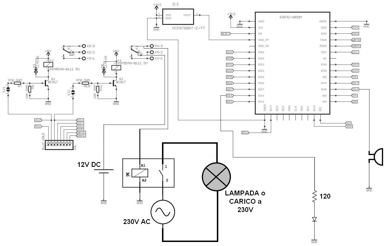 Figura 2: lo schema elettrico del maggiordomo remoto