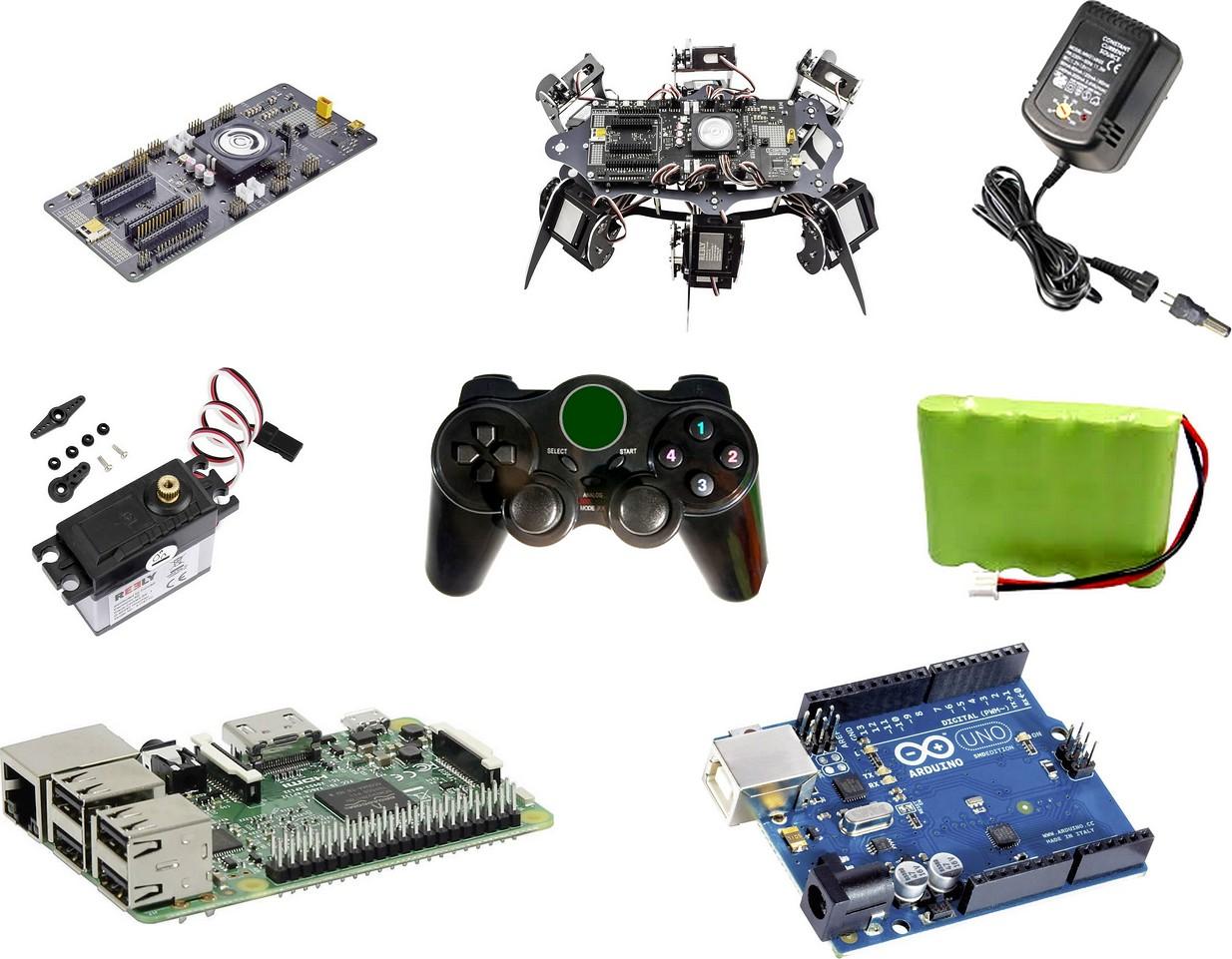 Figura 3: gli accessori necessari per l'allestimento di un robot completo