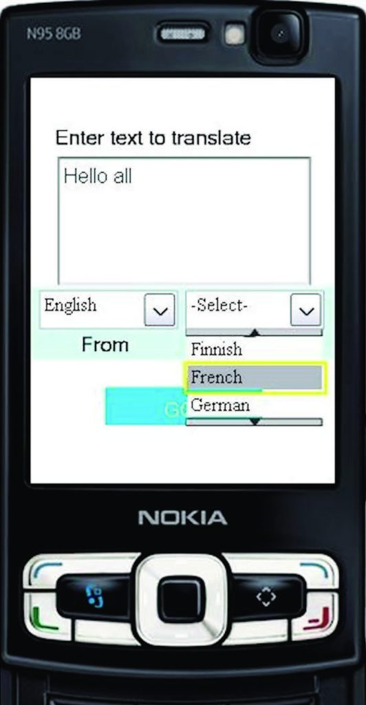 Figura 3: Google Translator, Interfaccia.