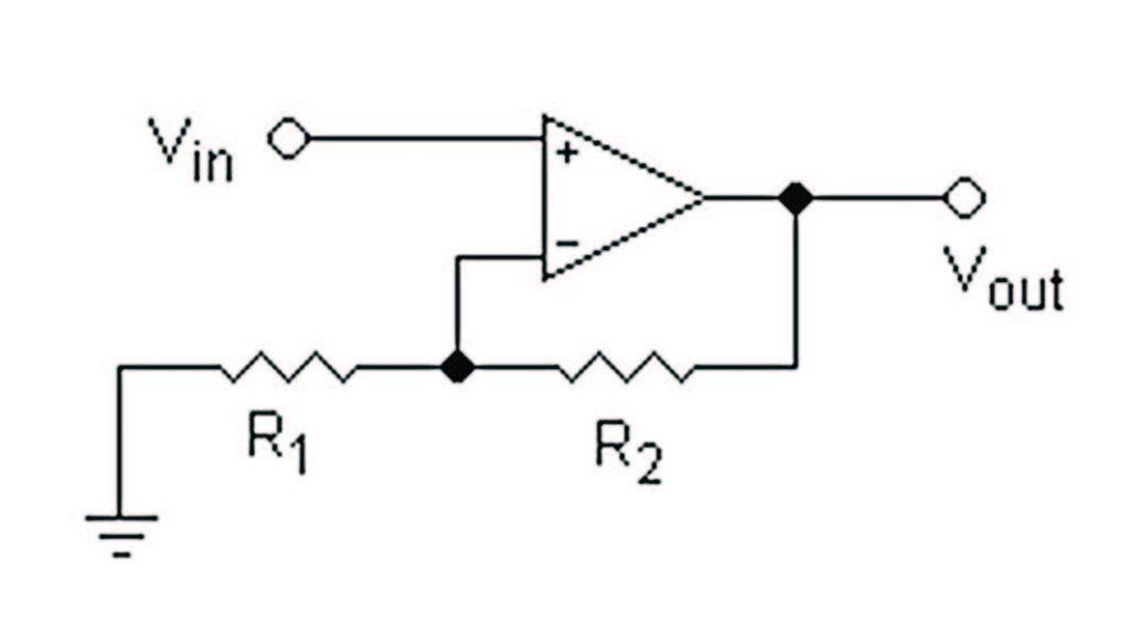 Figura 2: amplificatore operazionale in configurazione non invertente.
