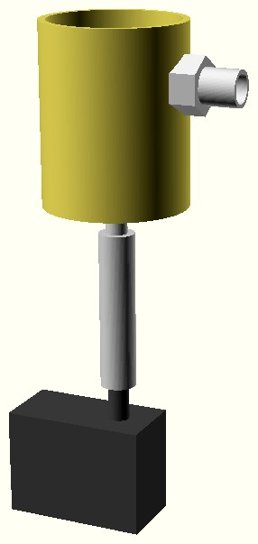 Figura 5: il tubo di plastica collega la pompa al filtro vero e proprio