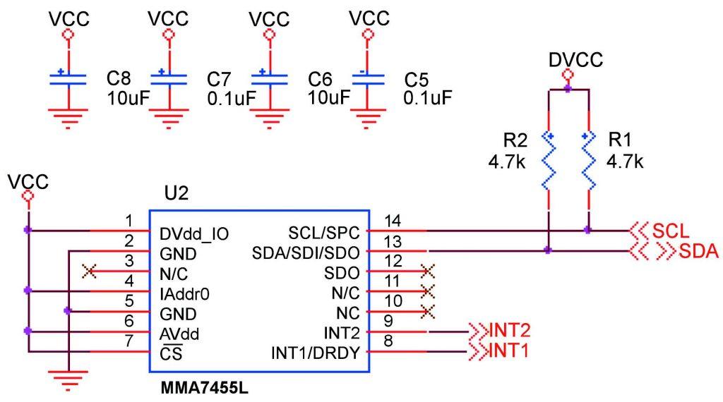 Figura 4: collegamento tramite bus I2C.
