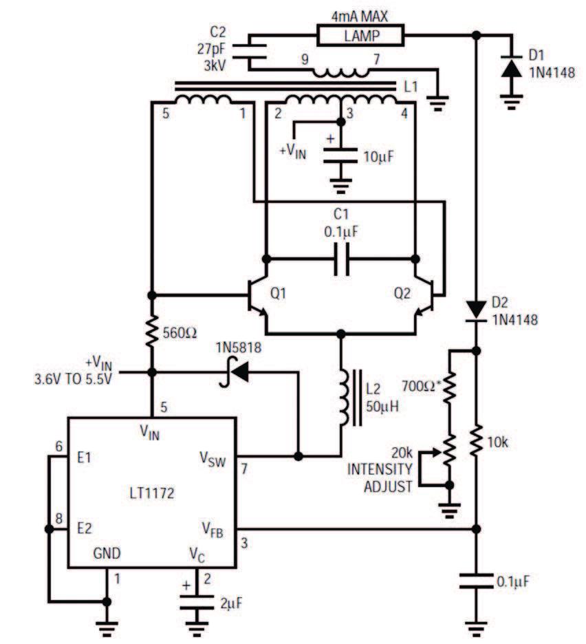 Figura 3: circuito di controllo in potenza.