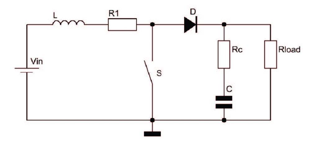 Figura 1: convertitore boost.