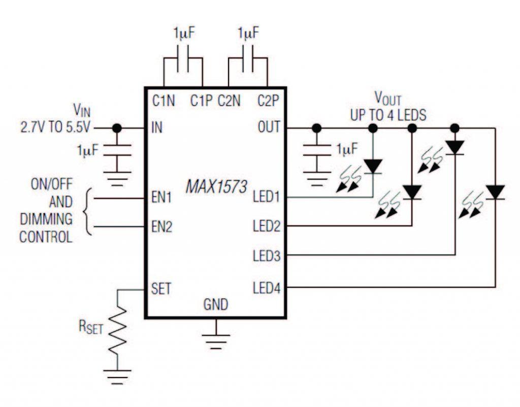 Figura 5: convertitore charge-pump.