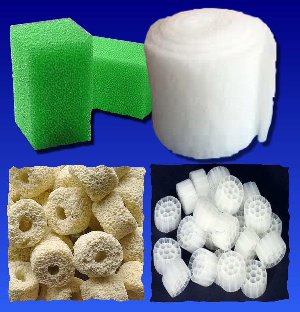 Figura 1: materiali filtranti meccanici e biologici