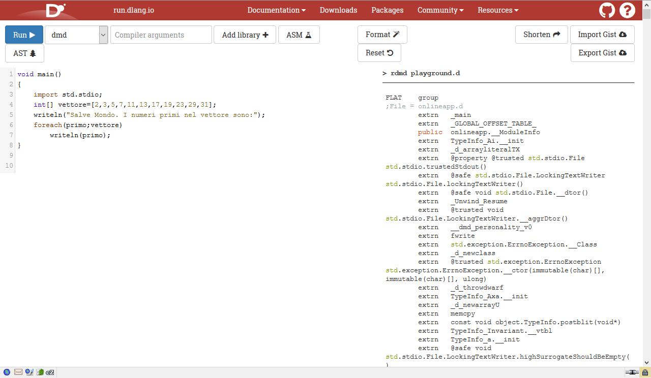 """Figura 3: premendo il pulsante """"Open in IDE"""" si accede a un vero e proprio ambiente di sviluppo online"""