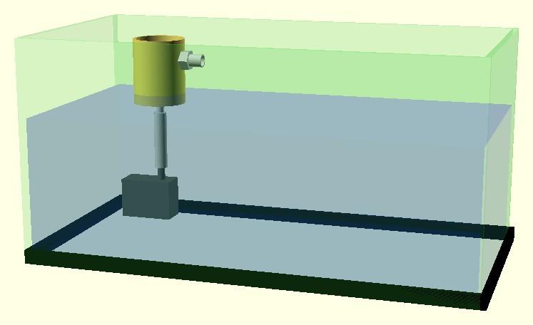 Figura 10: l'installazione del filtro nell'acquario