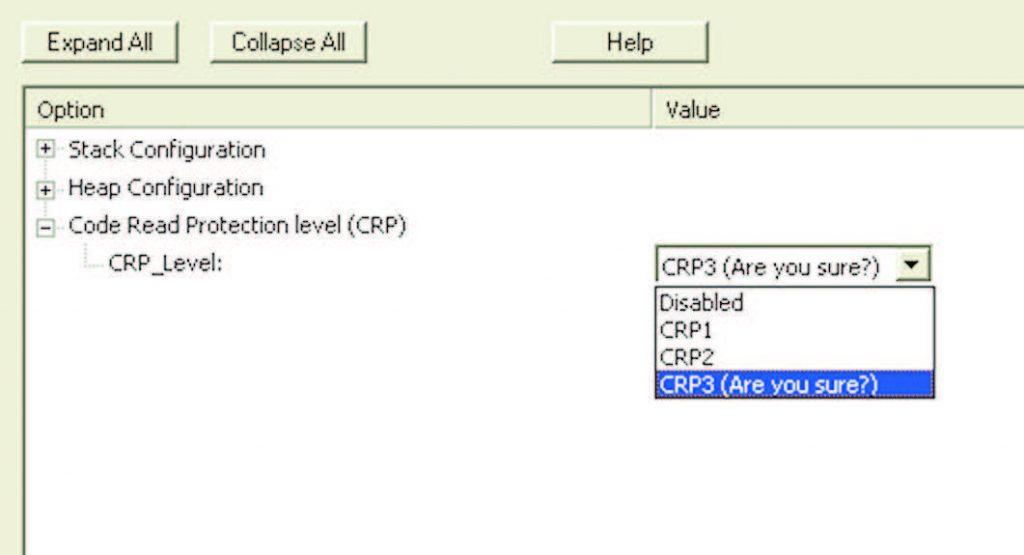 Figura 2: si imposta il livello CRP3 dal Configuration Wizard.