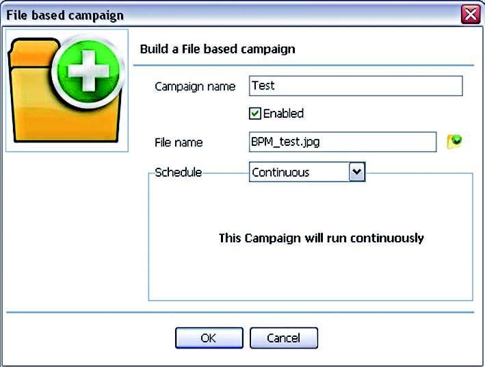 Figura 3: opzioni della campagna in TextBlue.
