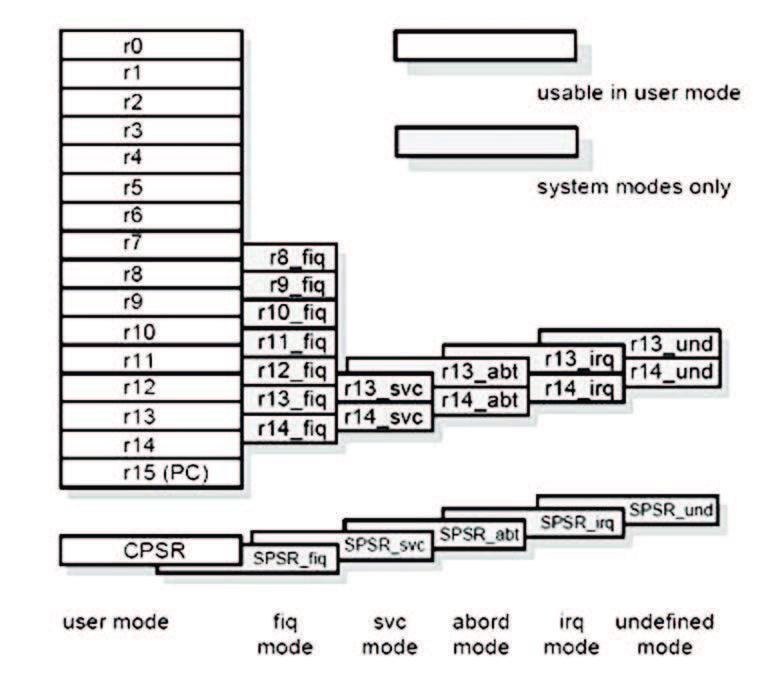 Figura 4: organizzazione dei registri.