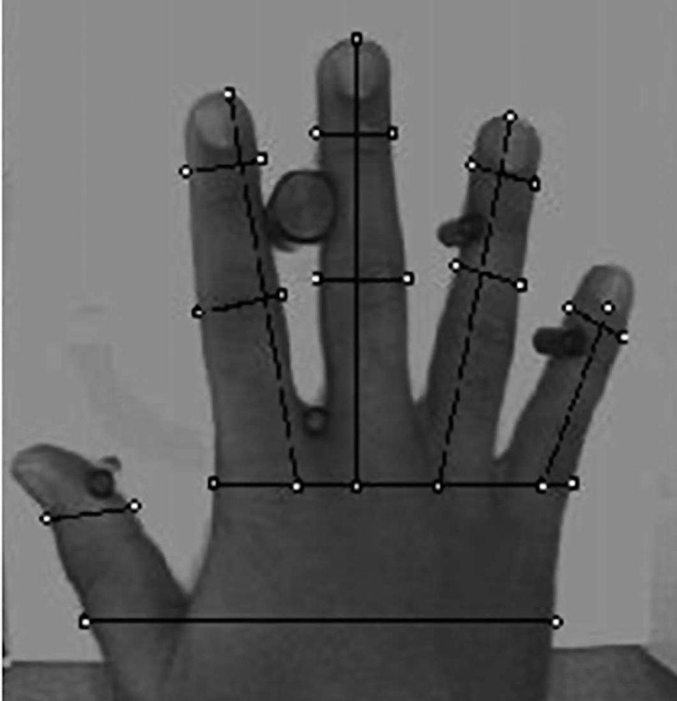 Figura 10: scanner geometria della mano.