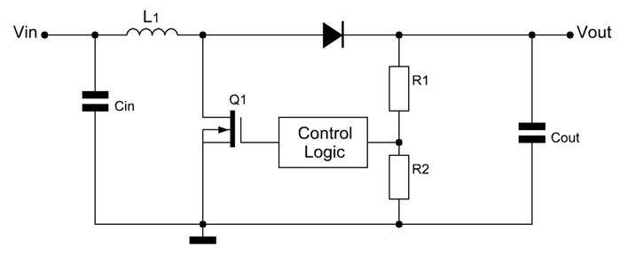 Figura 1: schema di un convertitore boost.