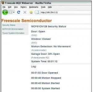 Figura 2: schermata di Stato dell'applicazione demo precaricata restituita attraverso la connessione mediante il Browser Firefox.