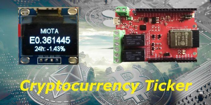Crypto Ticker con ESPertino: progetto completo