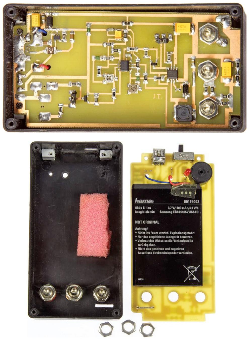 Figura 3: l'alloggiamento del dispositivo ha anche lo spazio per una batteria al litio
