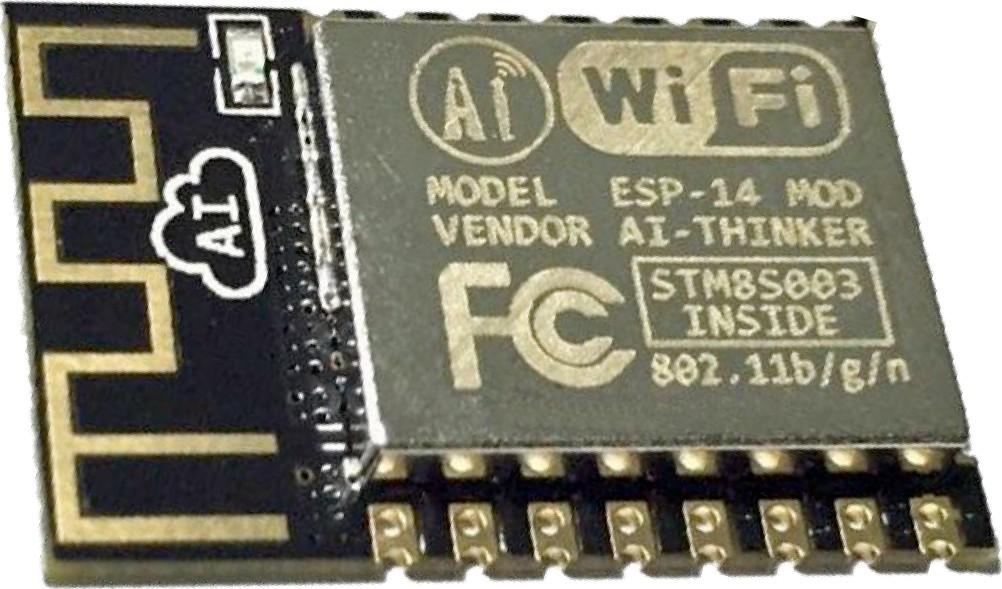 Figura 3: il modulo ESP-14 ESP8266 contiene praticamente tutto ciò di cui si ha bisogno