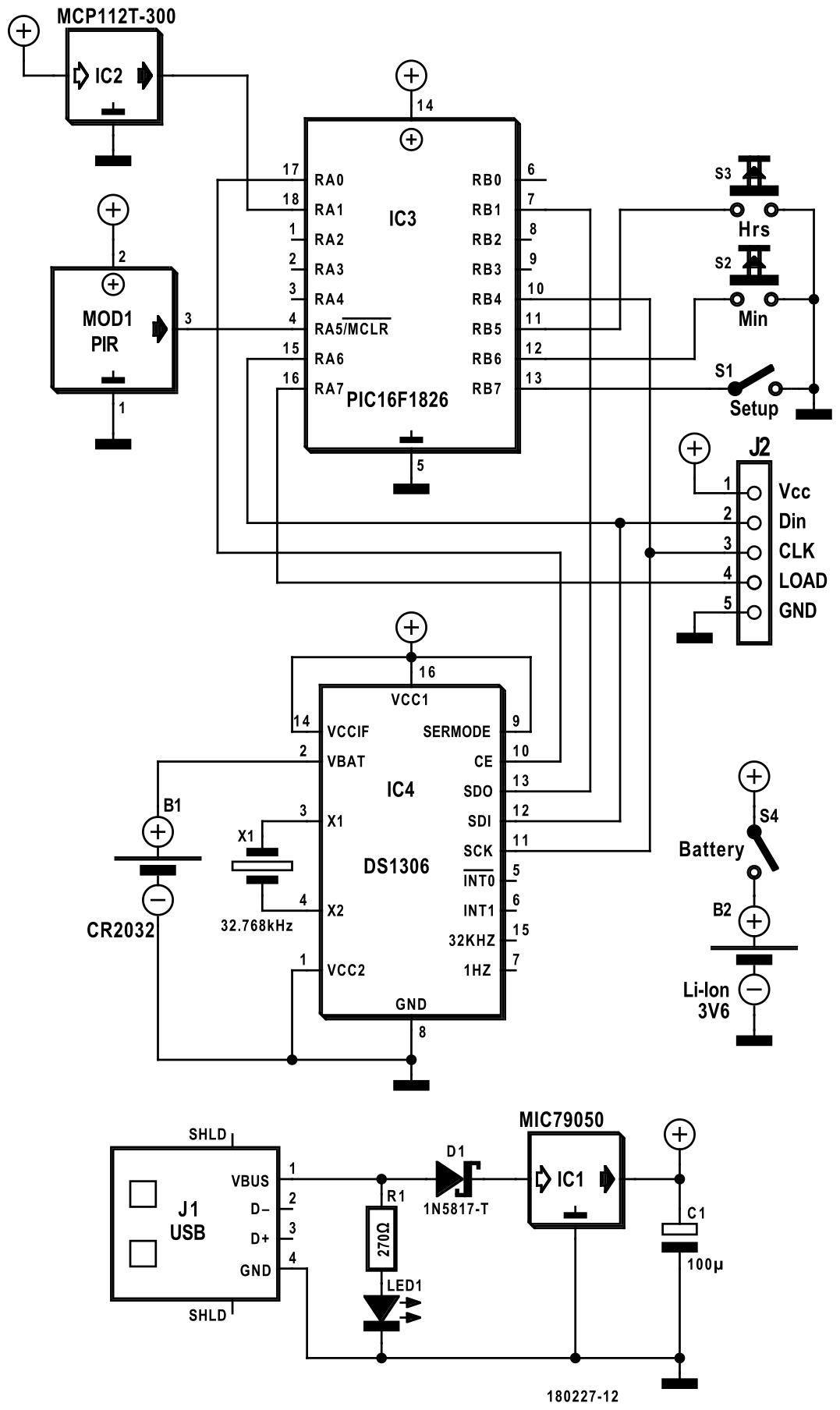 Figura 2: utilizzando quattro circuiti integrati, lo schema elettrico è abbastanza semplice
