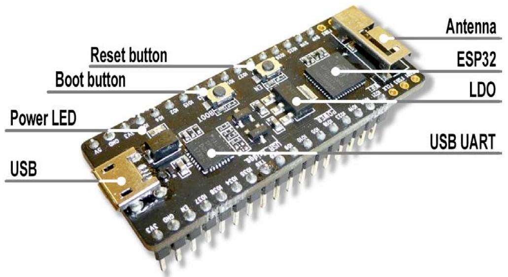 Figura 1: la Board ESP32 Pico V4
