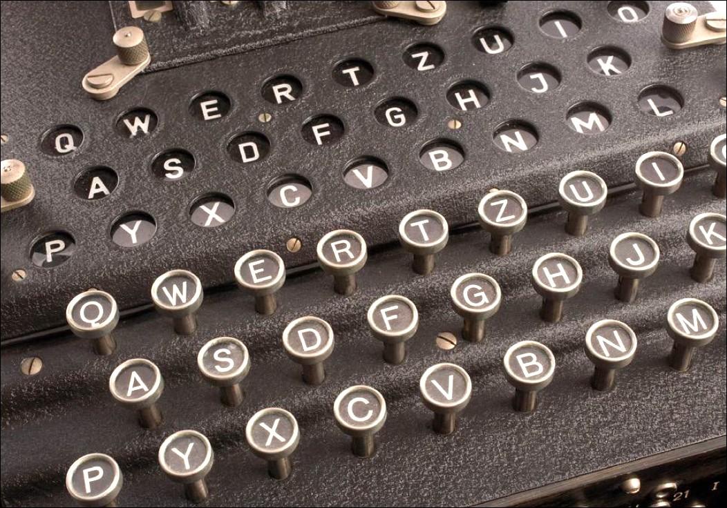 """Figura 1: un particolare della famosa macchina per la codifica elettromeccanica """"Enigma"""""""