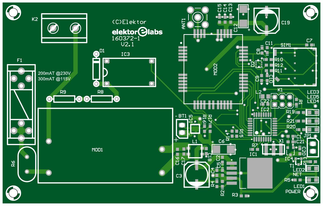 Figura 3: il PCB del progetto