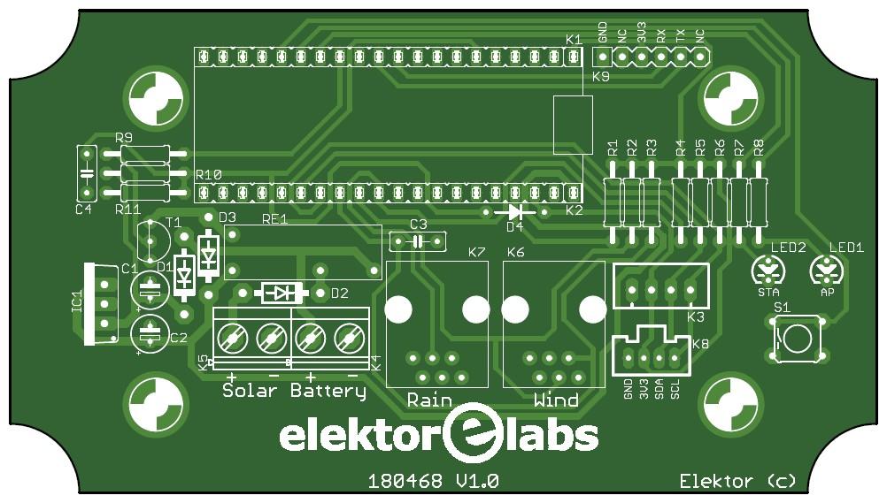 Figura 3: la silkscreen del circuito