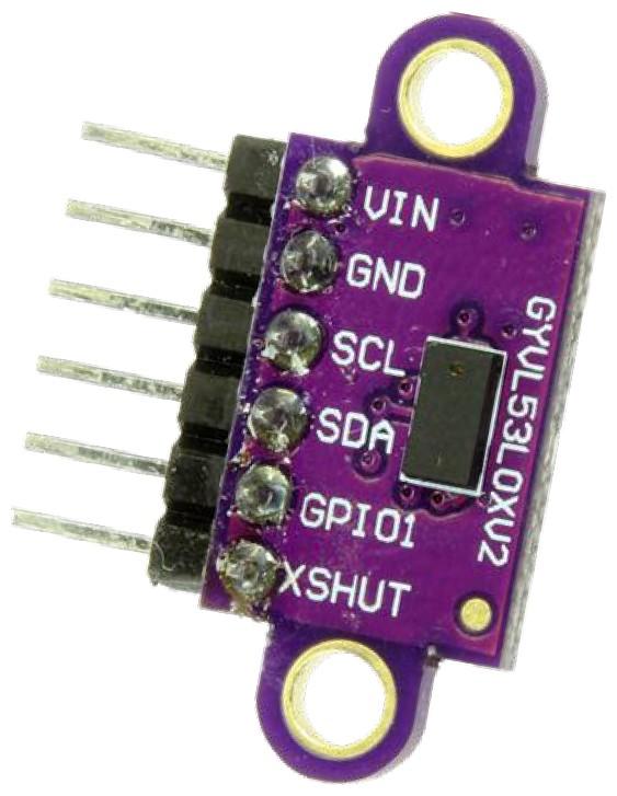 Figura 2: il sensore del tempo di volo VL53L0X