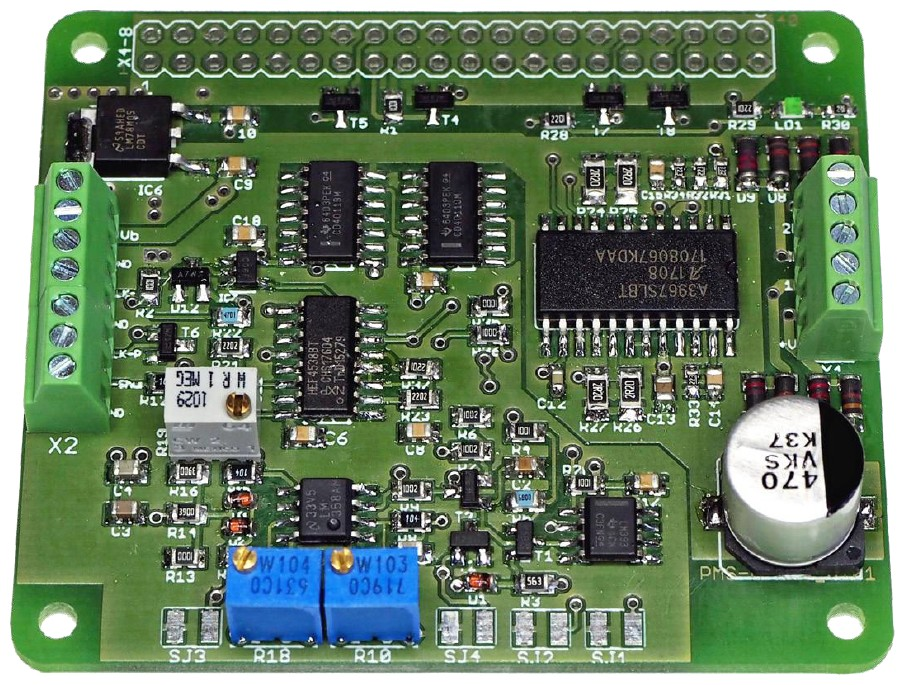 Figura 8: il prototipo del controller anti-risonanza per motore passo passo per RPI modello A+.