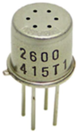 Figura 1: il sensore TGS2600 di Figaro rileva gas come metano, monossido di carbonio, etanolo, idrogeno e isobutano