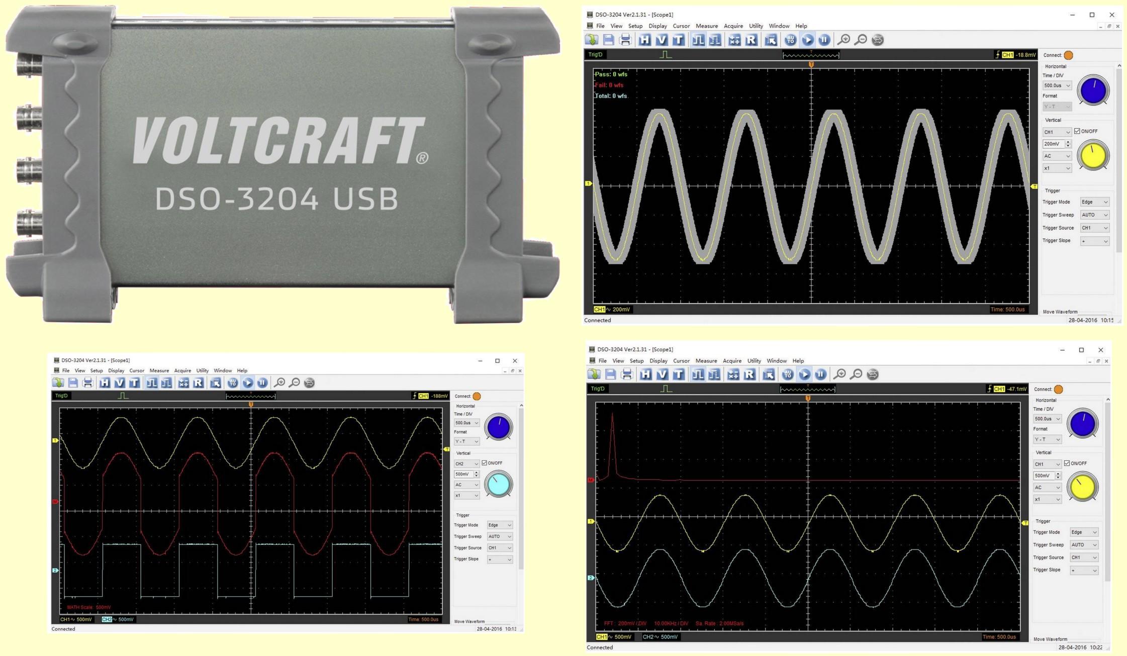 Figura 2: l'oscilloscopio USB DSO-3204