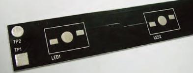 Figura 2: circuito stampato in alluminio.