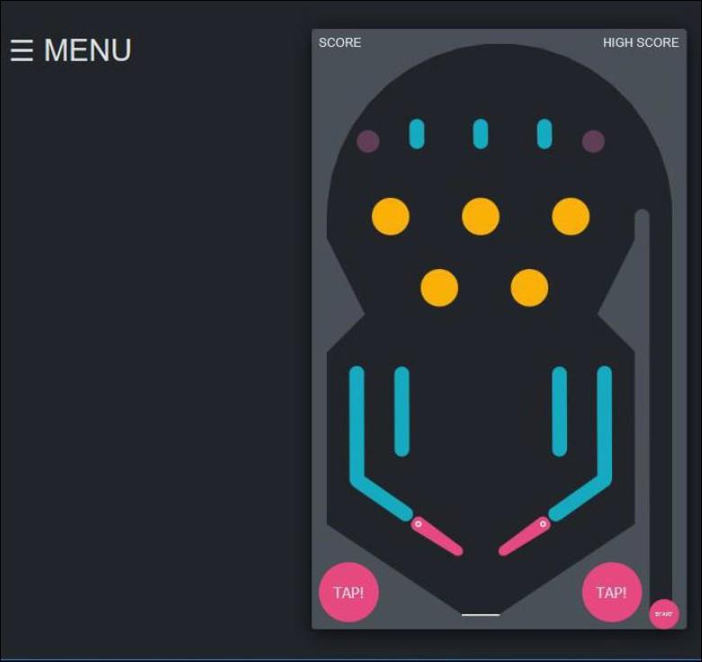 Figura 7: il gioco del flipper software