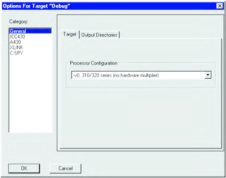 Figura 2: impostazione del Processor Configuration.