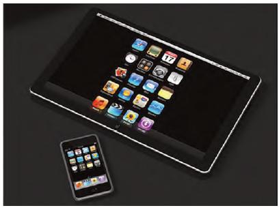 Figura 3: l'iPad ed il nuovo iPhone4, entrambi i dispositivi fanno uso dell'A4.