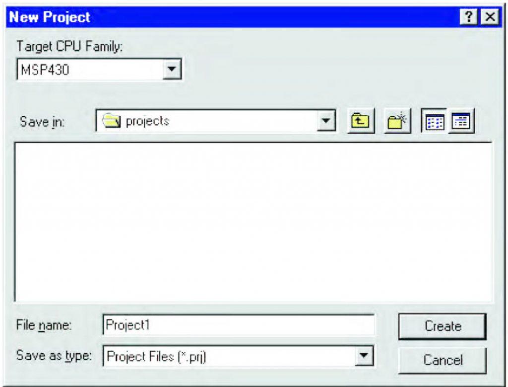 Figura 1: la finestra delle opzioni di progetto.